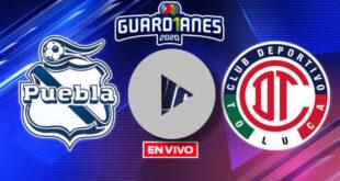 Puebla vs Toluca hoy en vivo ONLINE GRATIS